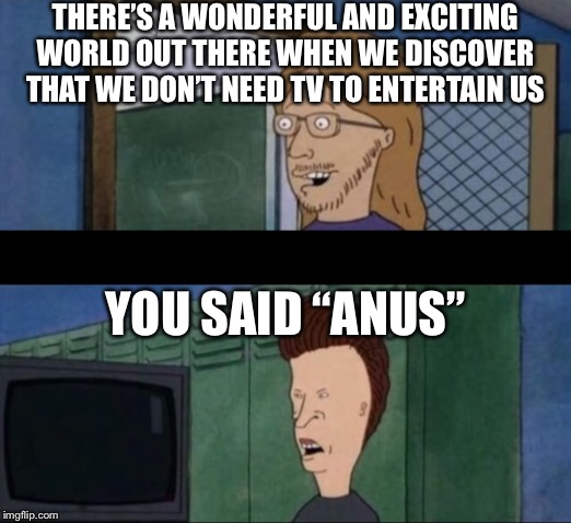 """…Entertain us"" ""You said anus"" Beavis & Butthead Do America 