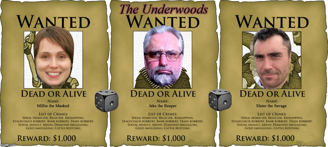 WANTED | The Underwoods | image tagged in wanted | made w/ Imgflip meme maker
