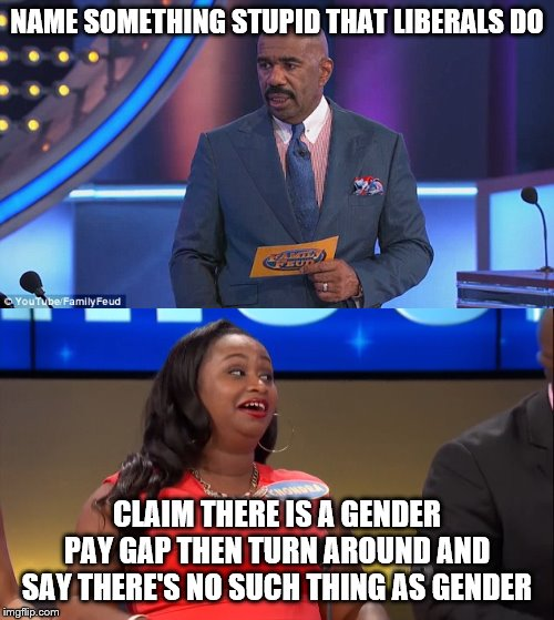 Yeah I don't get why they do that either. | NAME SOMETHING STUPID THAT LIBERALS DO CLAIM THERE IS A GENDER PAY GAP THEN TURN AROUND AND SAY THERE'S NO SUCH THING AS GENDER | image tagged in stupid liberals,liberal hypocrisy,2 genders | made w/ Imgflip meme maker