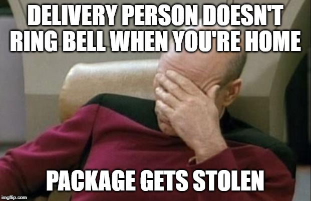 "How many comments will be Sulu talking about a ""package"" 