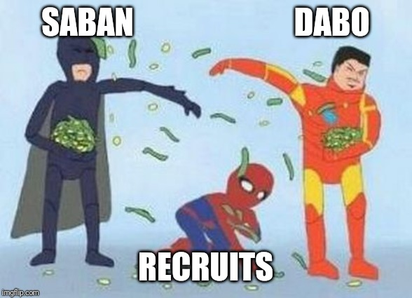 Pathetic Spidey Meme | SABAN                          DABO RECRUITS | image tagged in memes,pathetic spidey | made w/ Imgflip meme maker