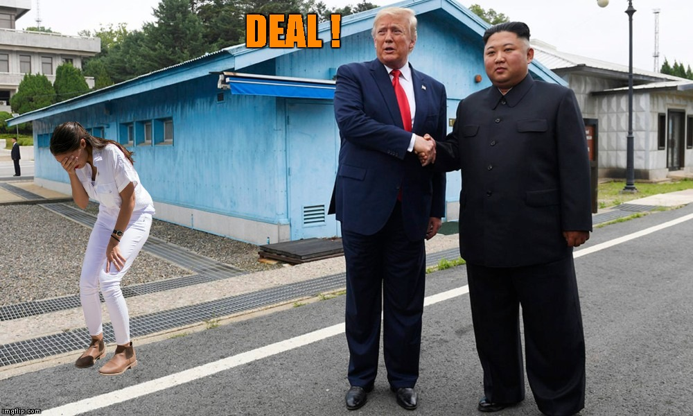 ...with it ! | DEAL ! | image tagged in memes,donald trump,kim jong un,north korea,aoc,the art of the deal | made w/ Imgflip meme maker