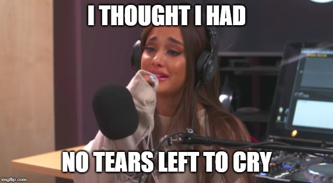 I THOUGHT I HAD NO TEARS LEFT TO CRY | made w/ Imgflip meme maker