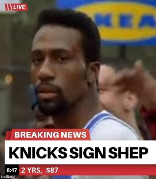 BLOCKBUSTER SIGNING | image tagged in nba memes,new york knicks,playoffs | made w/ Imgflip meme maker