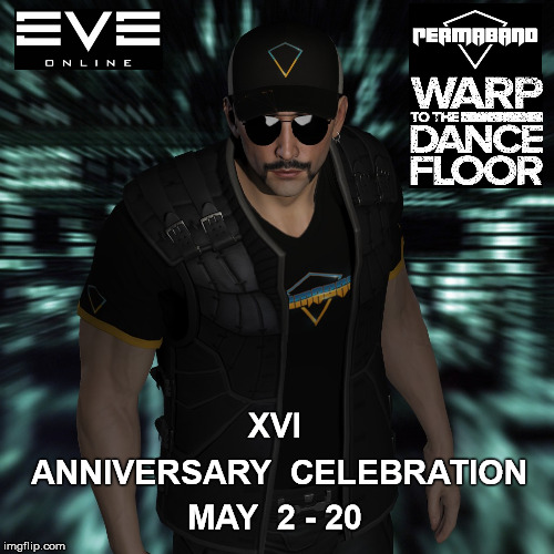 Eve Online 16 Anniversary Celebration |  XVI; ANNIVERSARY  CELEBRATION; MAY  2 - 20 | image tagged in ccp,mmorpg,eve online | made w/ Imgflip meme maker