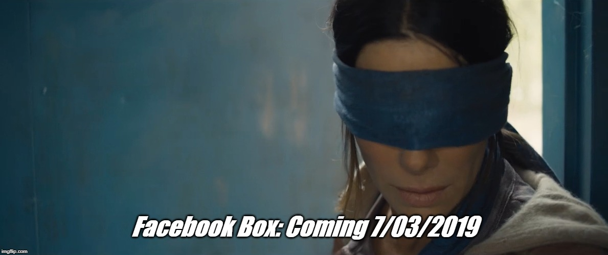 Facebook Box: Coming 7/03/2019 | image tagged in facebook,crash,broken,down,meme,fb | made w/ Imgflip meme maker