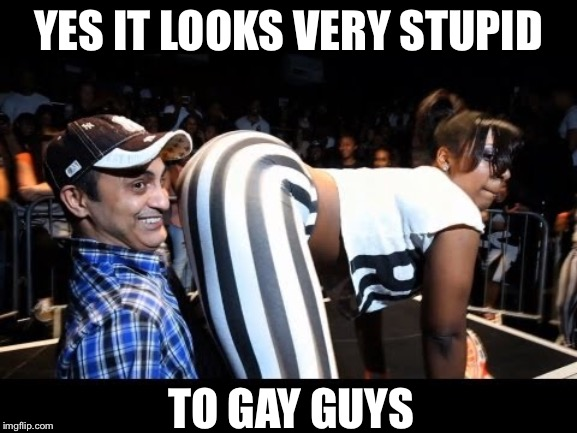 YES IT LOOKS VERY STUPID TO GAY GUYS | made w/ Imgflip meme maker