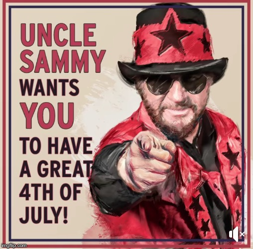 Uncle Sammy | image tagged in sammy hagar,independence day,4th of july | made w/ Imgflip meme maker