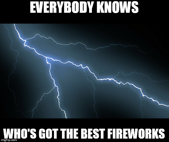 Happy 4th of July!!! | EVERYBODY KNOWS WHO'S GOT THE BEST FIREWORKS | image tagged in 4th of july,2019 | made w/ Imgflip meme maker