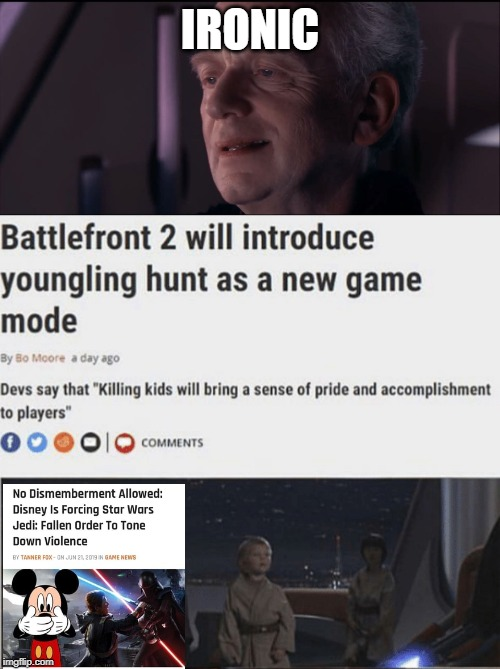 IRONIC | image tagged in palpatine ironic | made w/ Imgflip meme maker