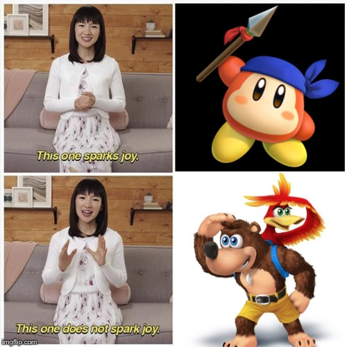 This does not spark joy | . | image tagged in this does not spark joy,memes,super smash bros ultimate,super smash bros | made w/ Imgflip meme maker