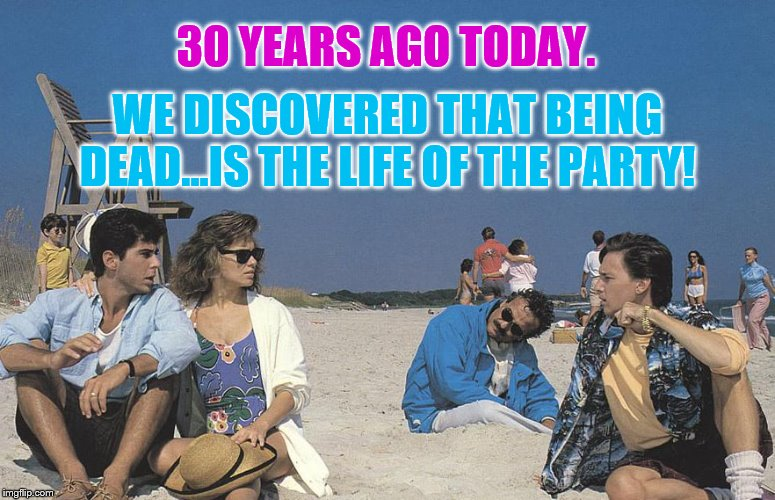 Some Still Like It Hot, and Some Still Like It Cold | 30 YEARS AGO TODAY. WE DISCOVERED THAT BEING DEAD...IS THE LIFE OF THE PARTY! | image tagged in weekend at bernie's | made w/ Imgflip meme maker