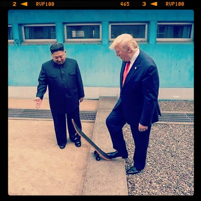 Trump Skates With Kim Jong Un Blank Template Imgflip