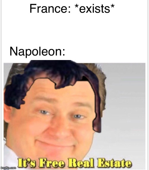 Napoleon real estate | image tagged in napoleon,its free real estate | made w/ Imgflip meme maker
