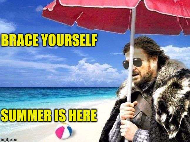 Summer is Coming | BRACE YOURSELF SUMMER IS HERE | image tagged in summer is coming | made w/ Imgflip meme maker