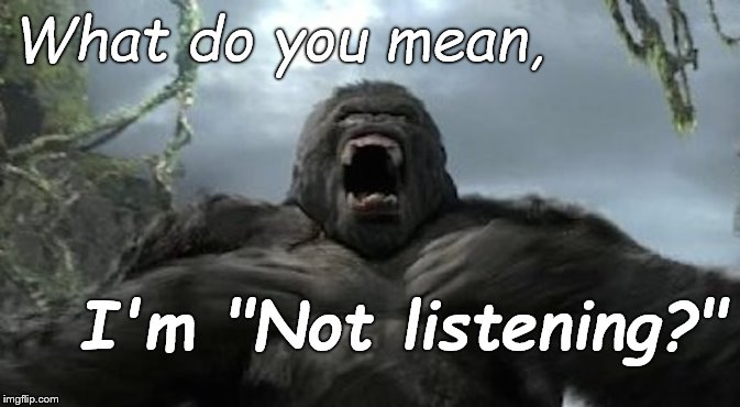 "Yesterday Mrs. Kong called him out on his habit of looking her in the eye, nodding & throwing in an ""uh-hu"" but not listening... 