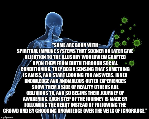 "Fortunately | ""SOME ARE BORN WITH SPIRITUAL IMMUNE SYSTEMS THAT SOONER OR LATER GIVE REJECTION TO THE ILLUSORY WORLDVIEW GRAFTED UPON THEM FROM BIRTH THRO 