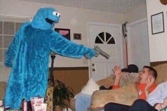 Cursed Cookie Monster Blank Template Imgflip