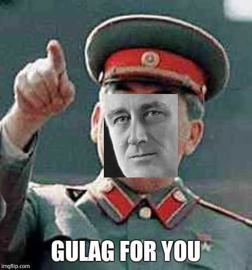 Stalin Gulag | GULAG FOR YOU | image tagged in stalin gulag | made w/ Imgflip meme maker