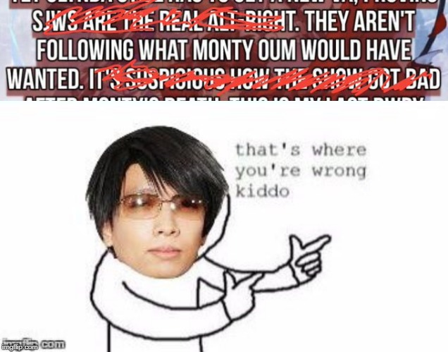 image tagged in monty oum says | made w/ Imgflip meme maker