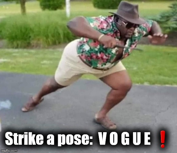 Strike a pose:  V O G U E ❗ | image tagged in madonna,just dance,manic mondays | made w/ Imgflip meme maker