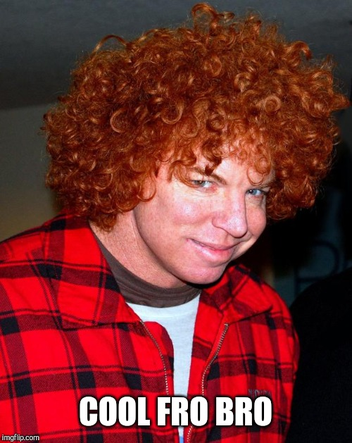 carrot top | COOL FRO BRO | image tagged in carrot top | made w/ Imgflip meme maker