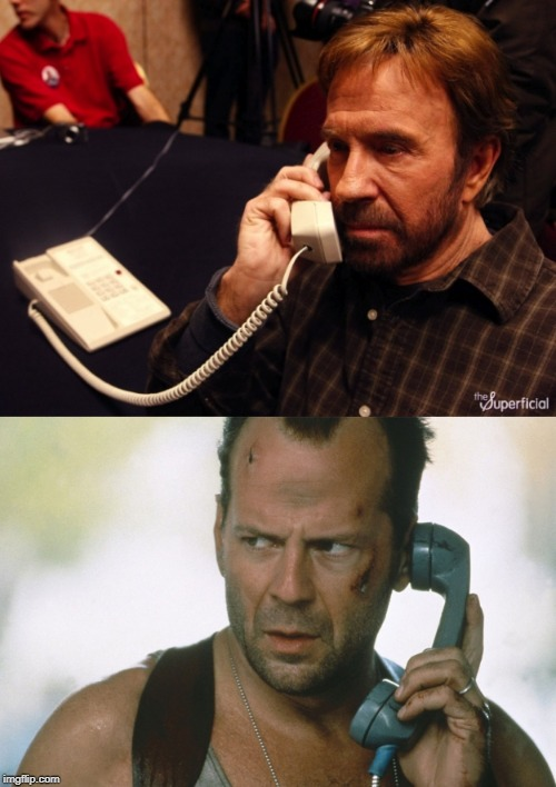 image tagged in bruce willis on the phone die hard | made w/ Imgflip meme maker