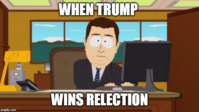 Aaaaand Its Gone Meme | WHEN TRUMP WINS RELECTION | image tagged in memes,aaaaand its gone | made w/ Imgflip meme maker