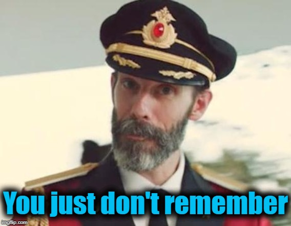 Captain Obvious | You just don't remember | image tagged in captain obvious | made w/ Imgflip meme maker