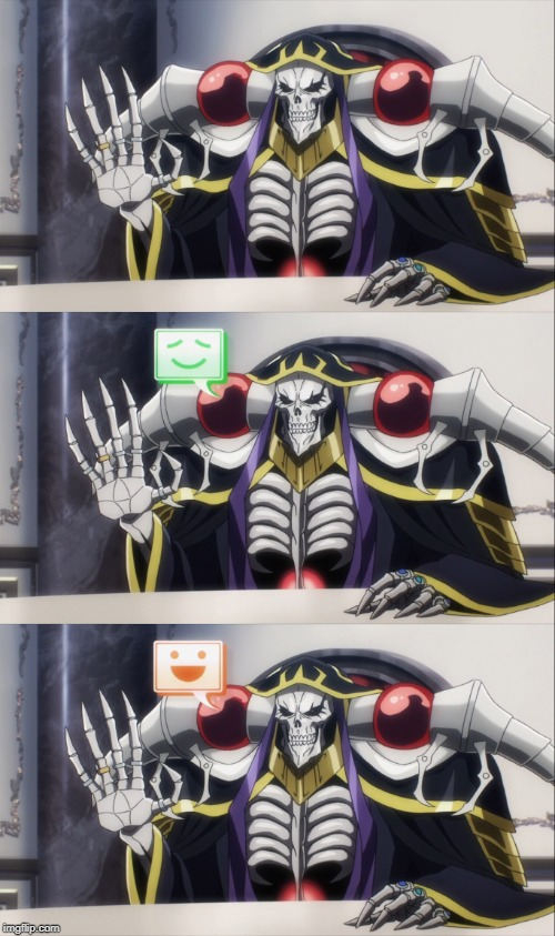 Ainz Ooal Gown Meme Format 3 | image tagged in overlord,anime,animeme,anime meme | made w/ Imgflip meme maker