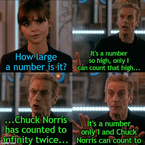 Is Four A Lot | How large a number is it? It's a number so high, only I can count that high... ...Chuck Norris has counted to infinity twice... It's a numbe | image tagged in is four a lot | made w/ Imgflip meme maker