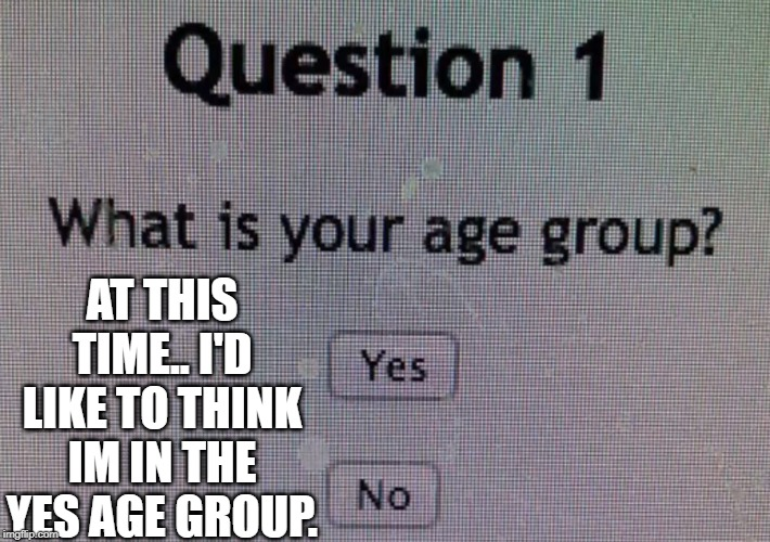 Boy am i a big boy Yes! | AT THIS TIME.. I'D LIKE TO THINK IM IN THE YES AGE GROUP. | image tagged in memes | made w/ Imgflip meme maker