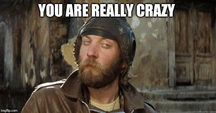 Oddball Kelly's Heroes | YOU ARE REALLY CRAZY | image tagged in oddball kelly's heroes | made w/ Imgflip meme maker