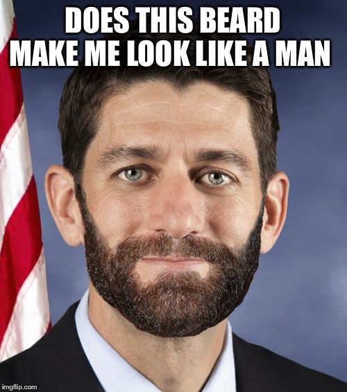 DOES THIS BEARD MAKE ME LOOK LIKE A MAN | image tagged in ryan beard | made w/ Imgflip meme maker