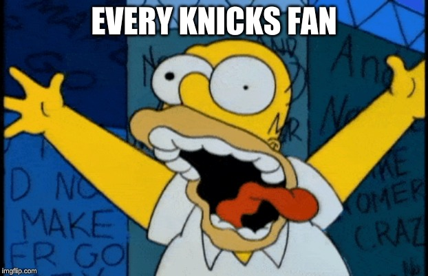 EVERY KNICKS FAN | image tagged in homer simpson | made w/ Imgflip meme maker