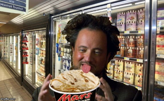 Ancient Aliens' churned technology | image tagged in ancient alien churned technology,ice cream licker,giorgio tsoukalos,humor,mars | made w/ Imgflip meme maker