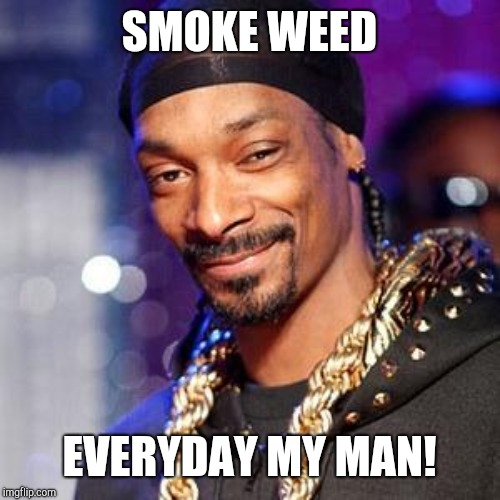 Snoop dogg | SMOKE WEED EVERYDAY MY MAN! | image tagged in snoop dogg | made w/ Imgflip meme maker