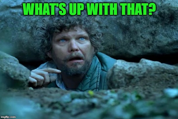 Under a Rock | WHAT'S UP WITH THAT? | image tagged in under a rock | made w/ Imgflip meme maker
