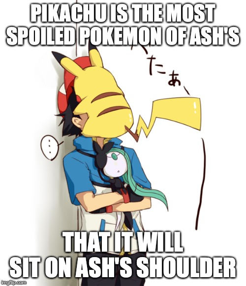 Pikachu On Ash S Face Imgflip