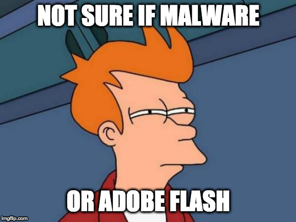Not sure if Malware or Adobe Flash