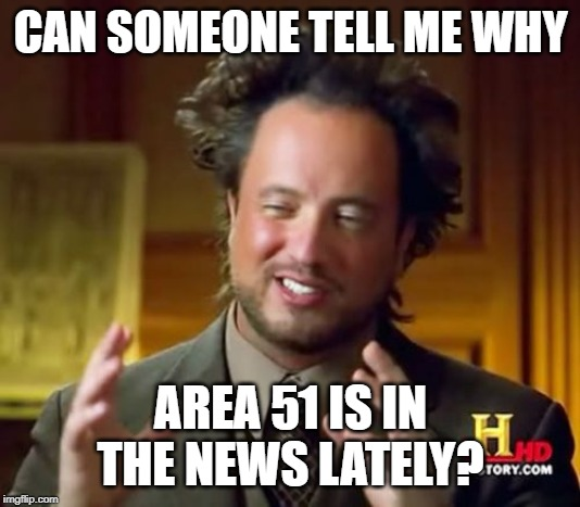 "I swear, if y'all knuckleheads answers ""aliens"" with this meme... 