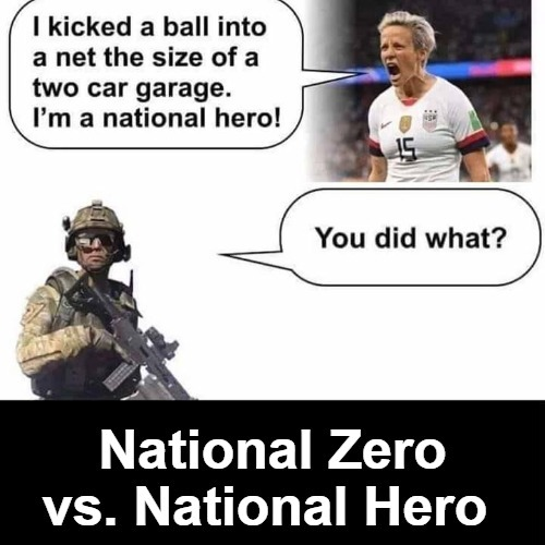 National Zero vs. National Hero | image tagged in triggered liberal,triggered feminist,super hero,heroes,super zero,national zero | made w/ Imgflip meme maker