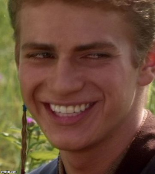 Cheeky Anakin | image tagged in cheeky anakin | made w/ Imgflip meme maker