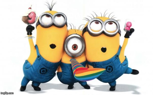 Minion party despicable me | image tagged in minion party despicable me | made w/ Imgflip meme maker