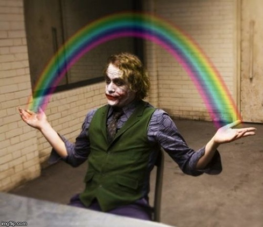 Joker Rainbow Hands Meme | image tagged in memes,joker rainbow hands | made w/ Imgflip meme maker