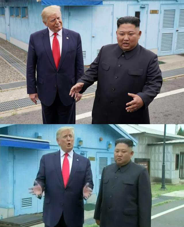 Donald Trump Correcting Kim Jong Un Blank Template Imgflip
