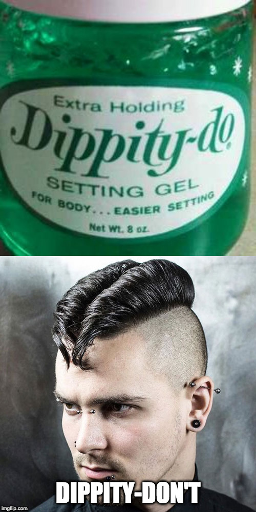 Dippity Don't | DIPPITY-DON'T | image tagged in bad hair | made w/ Imgflip meme maker