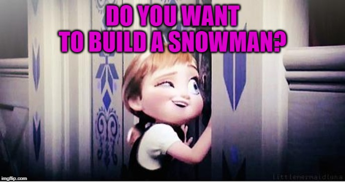 Do You Wanna Build A Snowman | DO YOU WANT TO BUILD A SNOWMAN? | image tagged in do you wanna build a snowman | made w/ Imgflip meme maker