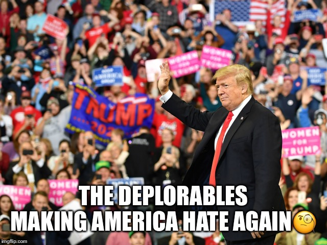 The Deplorables | THE DEPLORABLES MAKING AMERICA HATE AGAIN? | image tagged in the deplorables,making america hate again,donald trump,trump rally,klan rally,drinking the kool aid | made w/ Imgflip meme maker