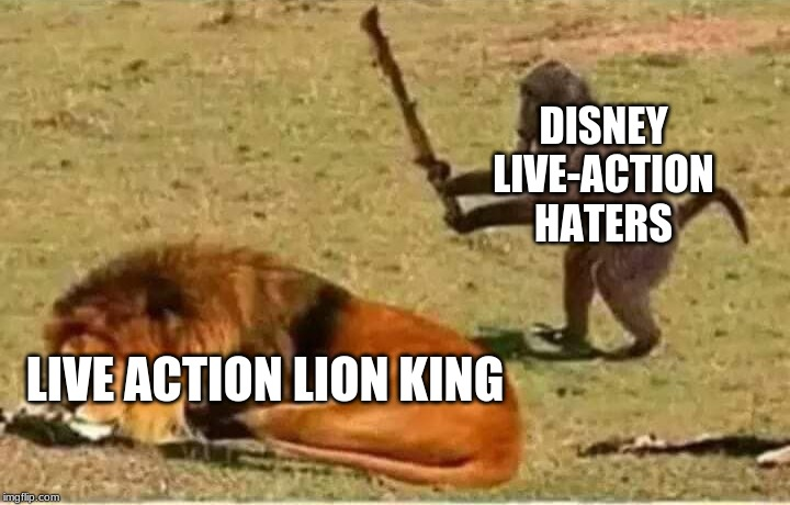 Haters going to Hate |  DISNEY LIVE-ACTION HATERS; LIVE ACTION LION KING | image tagged in bad decisions | made w/ Imgflip meme maker